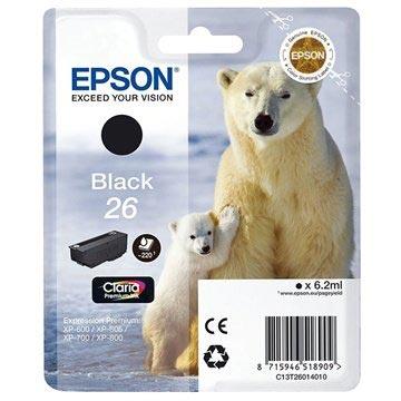 Epson T2601 Blekkpatron - Expression Premium XP-600, 700, 800 Series - Svart
