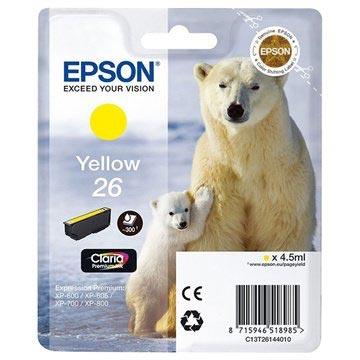 Epson T2614 Blekkpatron - Expression Premium XP-600, 700, 800 Series - Gul