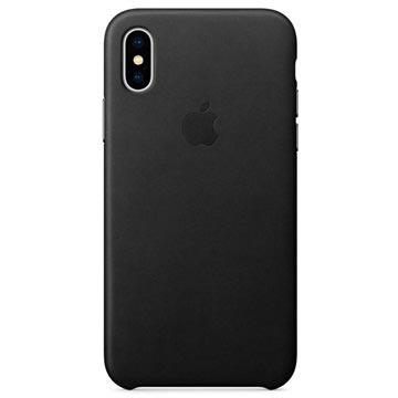 iPhone X Apple Lærdeksel MQTD2ZM/A - Svart