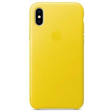 iPhone X Apple Lærdeksel MRGH2ZM/A - Vårgul