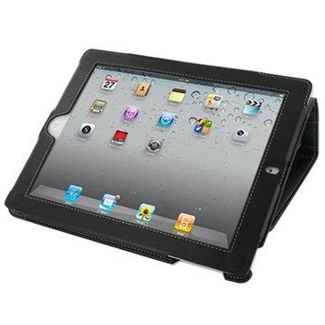 PDair Flippveske i Bokstil - iPad 2, iPad 3, iPad 4 - Svart