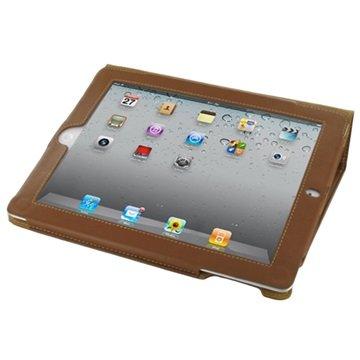 PDair Flippveske i Bokstil - iPad 2, iPad 3, iPad 4 - Brun