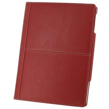 PDair Folio Lærveske - iPad 2, iPad 3, iPad 4 - Rød