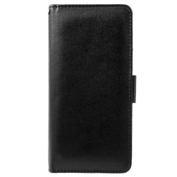 iPhone 5/5S/SE Premium Lommebok-deksel med Stativfunksjon - Svart
