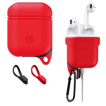 Apple AirPods Premium Vannavstøtende Silikondeksel - Rød