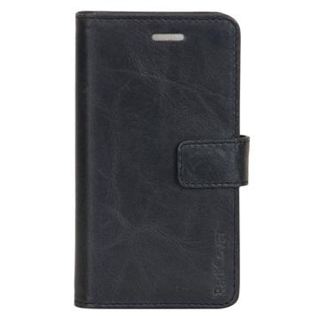 iPhone 6 / 6S RadiCover 2-i-1 Lommebok-deksel i lær - Svart