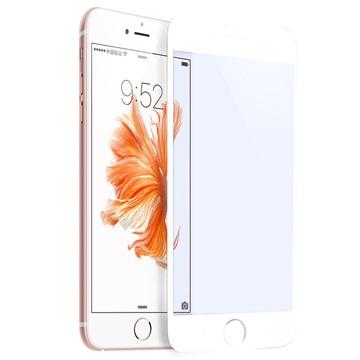 iPhone 6/6S Rurihai 4D Anti Blå Stråler Skjermbeskyttelse i Herdet Glass - Hvit