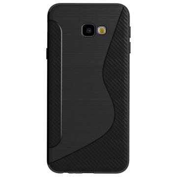 S-Line Samsung Galaxy J4+ TPU-deksel - Karbonfiber - Svart