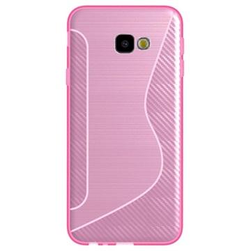 S-Line Samsung Galaxy J4+ TPU-deksel - Karbonfiber - Rosa