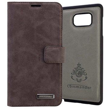 Samsung Galaxy Note 5 Commander Book & Cover Veske - Nubuk Grå