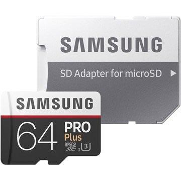 Samsung MB-MD64GA/EU Pro Plus MicroSDXC Minnekort - 64GB