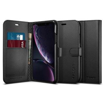 Spigen S iPhone XR Lommebok-deksel - Svart