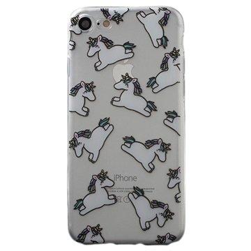 iPhone 7 / iPhone 8 TPU-deksel - Unicorns