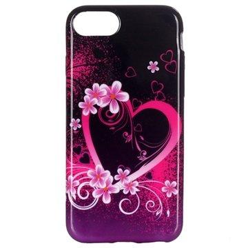 iPhone 7 / iPhone 8 TPU-deksel - Hjerte