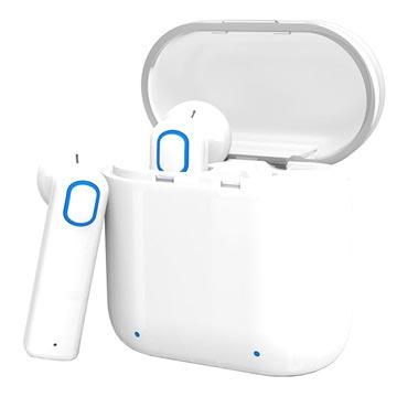 TWS True Trådløse Hodetelefoner med Ladeboks - Hvite