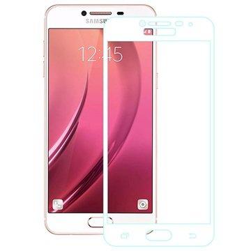 Samsung Galaxy C5 Full Dekning Skjermbeskytter i Herdet Glass - Hvit