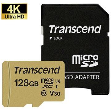 Transcend 500S MicroSDXC Minnekort TS128GUSD500S - 128GB