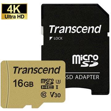 Transcend 500S MicroSDHC Minnekort TS16GUSD500S - 16GB