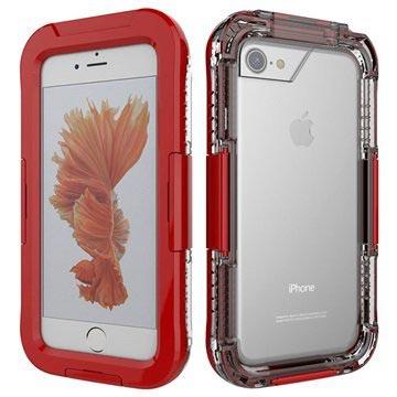 iPhone 7 / iPhone 8 Vanntett Mobilpose - Rød