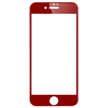 iPhone 7 Wuw-G08 4D Full Coverage Skjermbeskytter i Herdet Glass - Rød