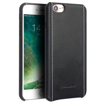 iPhone 7 / iPhone 8 Qialino Lærdeksel - Svart