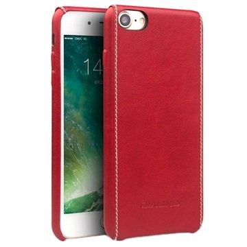 iPhone 7 / iPhone 8 Qialino Lærdeksel - Rød