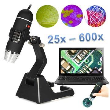 Bilde av 25X-600X Bærbar USB Digital Mikroskop med Stand