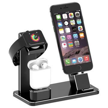 Bilde av 3-i-1 Ladestativ HJZJ001 - iPhone, Apple Watch, AirPods - Svart