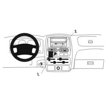 Brodit 852922 ProClip Nissan King Cab 00-06