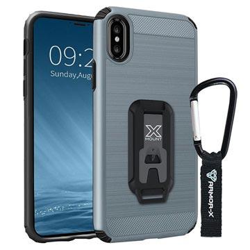 Bilde av Iphone X / Iphone Xs Armor-x Cx-iphx-gm Støtsikkert Robust Deksel - Metallisk Sølv