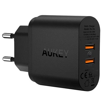 Aukey PA-T16 PowerAll Quick Charge 3.0 Vegglader - Svart