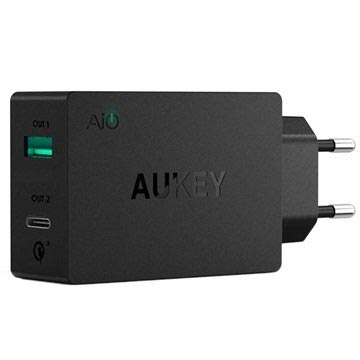 Aukey PA-Y2 Qualcomm Quick Charge 3.0 Type-C Vegglader - 6A