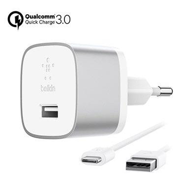 Belkin Boost Up Quick Charge 3.0 USB-C Vegglader - 18W - Hvit