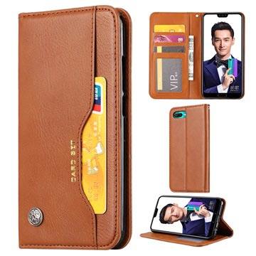 Kortsett-serie Huawei Honor 10 Lommebok-deksel - Brun