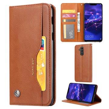Kortsett-serien Huawei Mate 20 Lite Lommebok-deksel - Brun