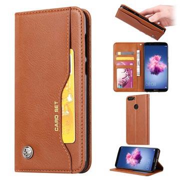 Kortsett-serie Huawei P Smart Lommebok-deksel - Brun