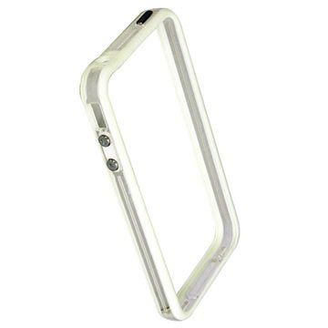 iPhone 4 / 4S Code Flexible TPU Bumper - Hvit