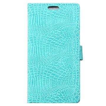 Huawei Honor 6x Krokodille Lommebok-deksel - Cyan