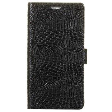 Huawei Mate 9 Pro Krokodille Lommebok-deksel - Svart