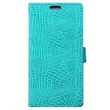 Huawei Honor 8 Krokodille Lommebok-deksel - Cyan