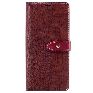 Samsung Galaxy Note8 Krokodille Lommebok-deksel - Brun