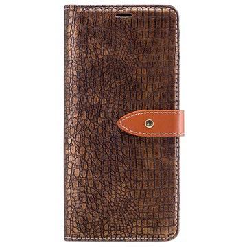Samsung Galaxy Note8 Krokodille Lommebok-deksel - Khaki