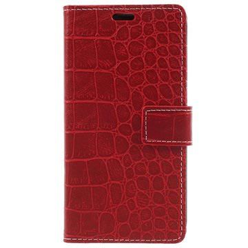 Huawei Honor 6C Pro Krokodille Lommebok-deksel - Rød