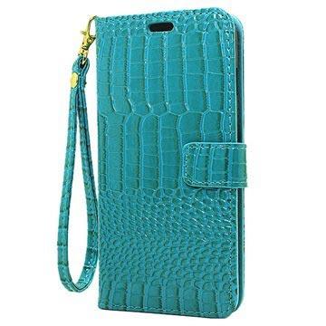 iPhone 7 Plus Krokodille Lommebok-deksel - Blå