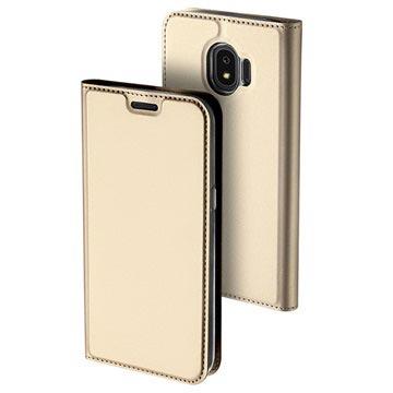 Dux Ducis Skin Pro Series Samsung Galaxy J4 flipp-deksel - Gull