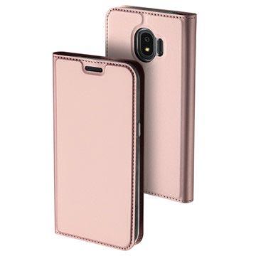 Dux Ducis Skin Pro Series Samsung Galaxy J4 flipp-deksel - Roségull