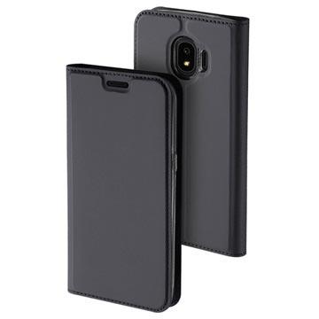 Dux Ducis Skin Pro Series Samsung Galaxy J4 flipp-deksel - Mørkgrått