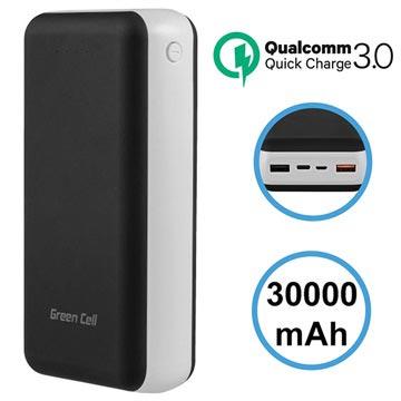 Green Cell PB114CZ Qualcomm Quick Charge 3.0 Powerbank - 30000mAh
