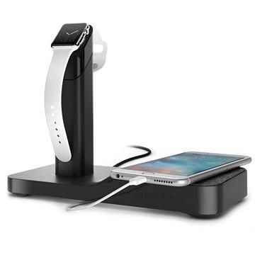 Griffin WatchStand Ladestasjon - Apple Watch, iPhone, iPad - Svart