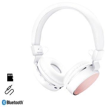 HyperGear V60 Foldbare Trådløse Hodetelefoner - Hvit / Rosa